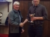 David Colthart receiving Keith Surridge Memorial Trophy for scoring most tries