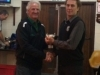 Keith Darby receiving Sorenson Memorial Trophy for Fairest Senior Player