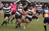 210712 News John Bisset/Timaru Herald.Temuka vs Harlequins Semi final at Fraser Park, Temuka players from left, Hami Goldsmith , Semisi Paseka and Kilifi Sivpeli